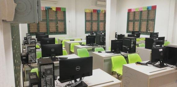 Computer classroom in Cambodia