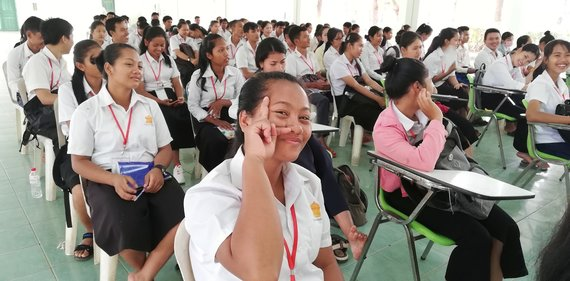 students at school in Cambodia